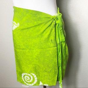 Gecko Batik swim coverup skirt.